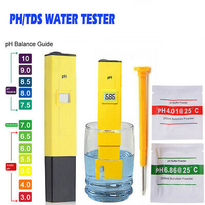 Water PH Meter Tester Aquarium Pool Pen Digital Hydroponics Portable Test Kit
