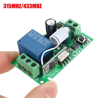 315/433MHz 220V 10A 1 Ch Receiver Wireless Relay RF Remote Control Switch Module