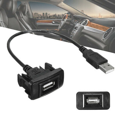 Car Dashboard Flush Mount USB 2.0 Male to Female Extension Cable Wire For Toyota