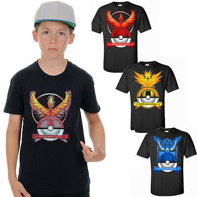 AU Kids Girls Boys Pikachu Tshirt Casual Shirt-Pokemon Go Fun Christmas Gift Top