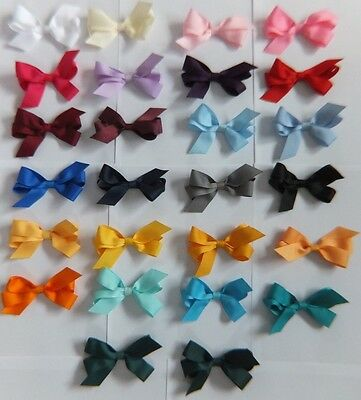 GIRLS PONYTAIL HAIR BOW SCHOOL + PARTY COLOURS ELASTIC TIE or ALLIGATOR CLIP