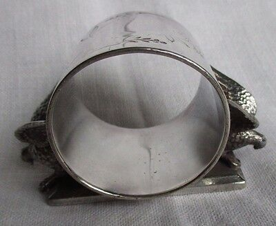 Meriden #146 Pair of Eagles Silverplate Figural Napkin Ring Lot #11