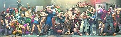 STREET FIGHTER SUPERWIDE STREET JAM POSTER 18x60 SOLD OUT 2006 HTF UDON Sealed