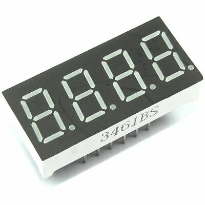 "4 Digit Seven Segment Red LED Display 0.36"" 3461BS Arduino Pi Flux Workshop"