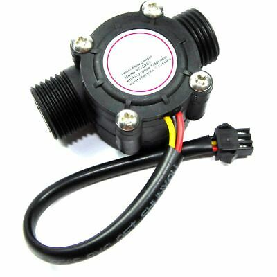 Hall Effect Flow Meter YF-S201 Hydroponic Water 0-30lpm Arduino Pi Flux Workshop