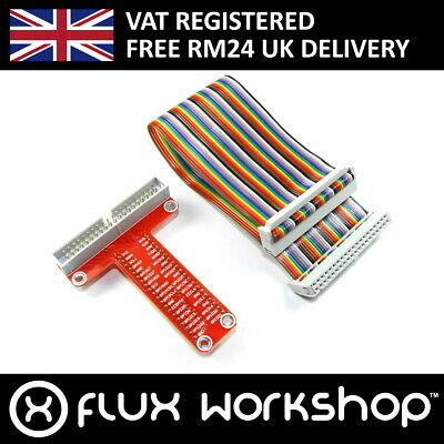 Raspberry Pi GPIO Breakout Board Adaptor 40 A+ B+ MB102 Cable Flux Workshop