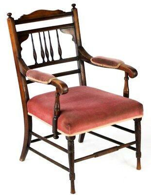Antique Victorian Regency Style Mahogany Elbow Chair - FREE Shipping [PL1985]