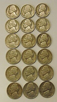 LOT of 6 Sets 1938 & 1939 (P D S) U.S. Nickel (s) 18 Coins Total FREE SHIP r220
