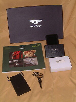Bentley Flying B Polished Chrome Bottle Stopper, New In Gift Box W/pouch! Sweet!