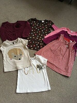 Girls Tops And Dress Bundle Age 12-18 Months Excellent Cond, Gap M&S, Mayoral