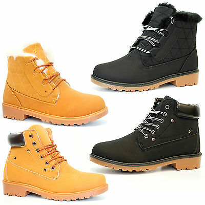 Hiking Boots Ankle Womens Desert Trail Combat Girls Chelsea Walking Shoes Sizes