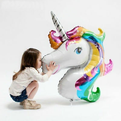 Au Unicorn Fantasy Horse Girls Birthday Party Supplies Decorations Foil Balloon