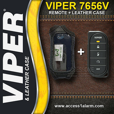 Viper 7656V 1-Way Remote Control And Leather Case Combo For Viper 4606V or 4610V