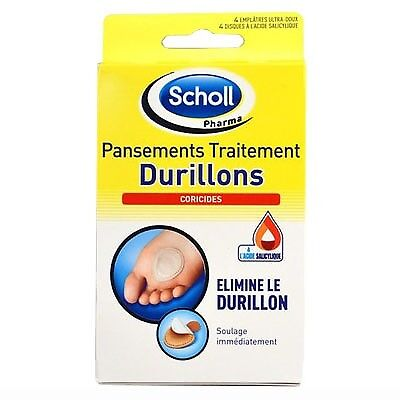 SCHOLL Pansements Traitement Durillons 4 pansements coricides