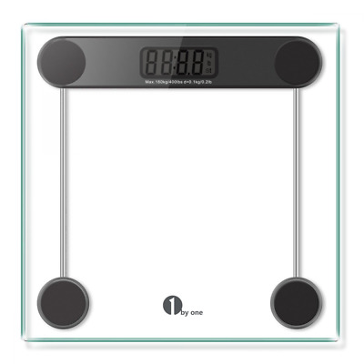 Bathroom Scale Tempered Glass LCD Display Accurate Reading Health Monitor Weight