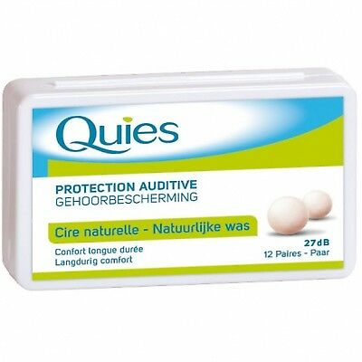 QUIES Protection auditive Cire x12 27 dB - 12 paires - cire naturelle