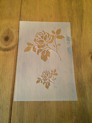Rose Flower Mylar Reusable Stencil Airbrush Painting Art Craft DIY Home Decor
