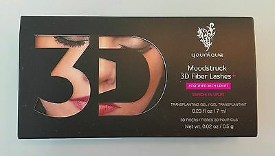 Máscara de pestañas Moodstruck 3D Fiber Lashes + Younique.