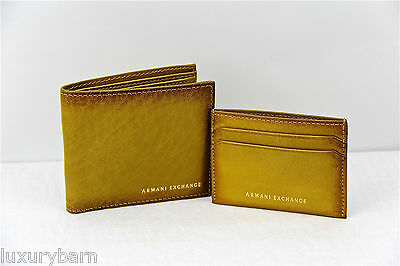 buy popular b147f 3698f ARMANI EXCHANGE A|X 100% Leather Wallet 8 Cc 2 Paper And 4Cc Credit Card  Holder