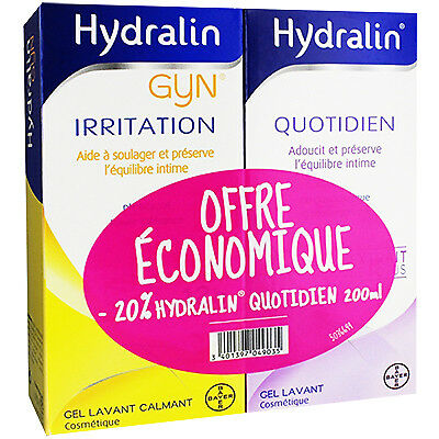 HYDRALIN Gyn Irritation 200ml + Quotidien 200ml