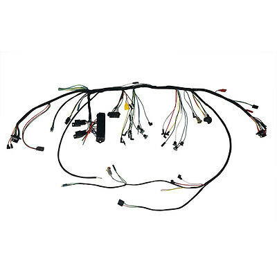 Mustang Under Dash Wiring Harness With Premium Fuse Box and Relays 1966