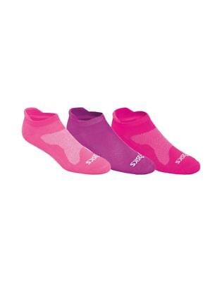 ASICS Cushion Low Cut (3 Pack) (Women's) - Knockout Pink Assorted - Socks - NEW