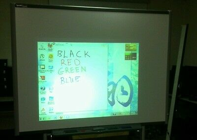"SB680 77"" SmartBoard Interactive Board with 4 Pens, Eraser, Pen Tray and Cable."
