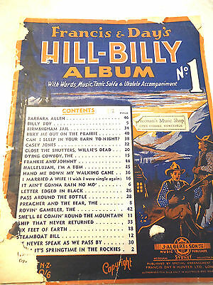Hill-Billy Album..francis & Day..words/music/ukele/23 Songs
