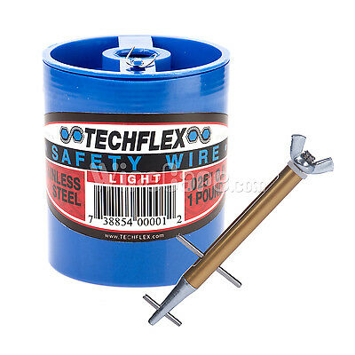 """Clamptite Kit- CLT05- 4 3/4"""" Stainless/Alum Tool & 1 lb can of .025 Safety Wire"""