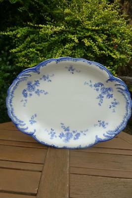 Antique Ridgeways Chiswick Large Blue & White Platter