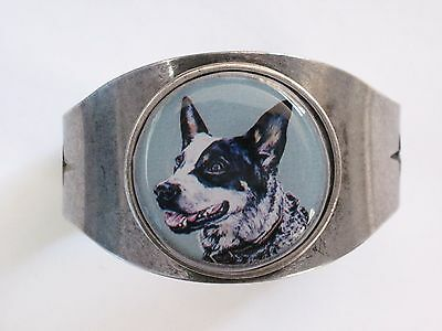 Australian Cattle Dog Queensland Heeler Original Art Cuff Bracelet