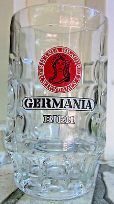 Germania Brauerei Wiesbaden Bier Glass Dimple German Beer Mug Germany 0,4L