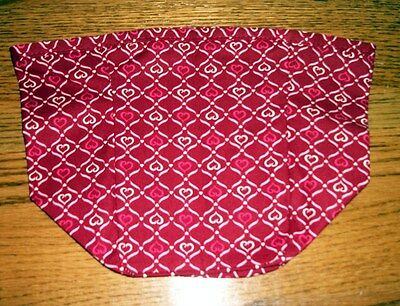 Tall Tissue Basket Liner from Longaberger Blushing Hearts fabric.  New & Crisp