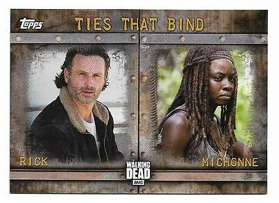 2017 Topps The Walking Dead Season 6 Ties That Bind F-7 Rick Grimes and Michonne