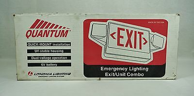 NEW Sealed Lithonia Lighting Quantum Exit / Unit  Combo Emergency Light