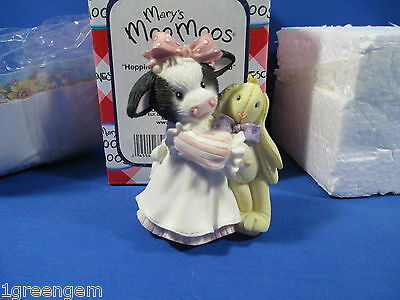 Mary's Moo Moos Hoppiness Is A Friend Like You Girl With Bunny 119927 Rare *new*