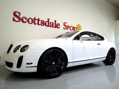 2010 Bentley Continental GT ONLY 19k MILES, BEST COLORS, NAIM AUDIO, AS NEW 2010 BENTLEY GT SUPERSPORTS * 19k Mi * WHITE on BELUGA, BLACK WHLS, NIAM AUDIO
