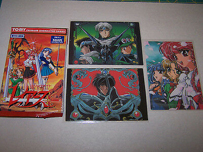 Magic Knight Rayearth Tomy Premium Character Cards  3 Rare cards
