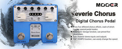 Mooer Reverie Chorus Digital Stereo Chorus Effect Pedal True Bypass Open Box