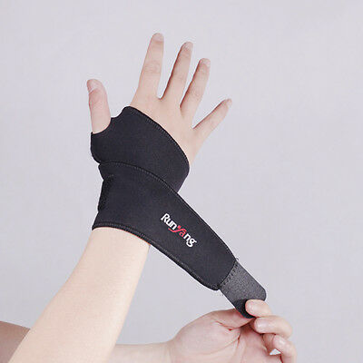 Wrist Hand Support Brace Strap Thumb Wrap Sports Injury Protection Compression