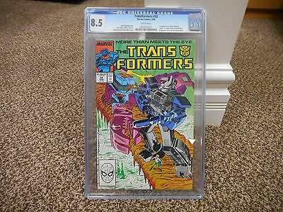 Transformers 38 cgc 8.5 1st appearance of Spike Witwicky Marvel 1988 WHITE pgs