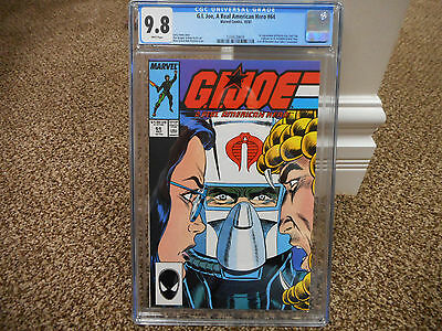 GI Joe 64 cgc 9.8 Marvel 1987 1st appearance Psyche-Out Sci-Fi Frostbite Cobra +