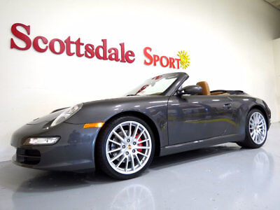 2008 Porsche 911 6SP MANUAL, RARE SLATE GREY on NATURAL, BEAUTIFUL! 08 CARRERA S CABRIOLET * RARE 6SP MANUAL, SLATE GREY, CARRERA CLASSIC WHEELS.