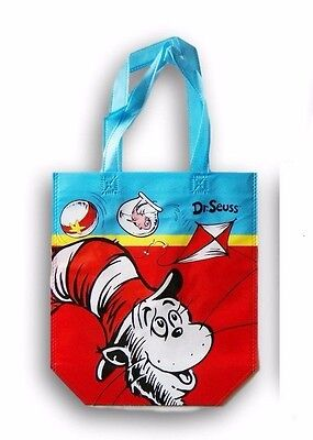 "DR. SEUSS New 10"" x 12"" Plastic Re-Usable Shopping Treat Bag Tote Cat in the Hat"
