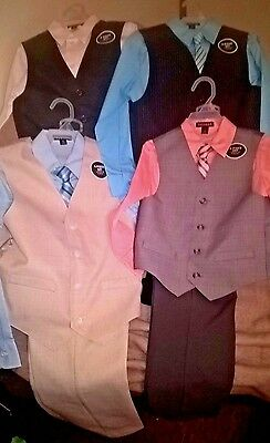 NWT George Boy's 4 Piece Dress Suits Size 6,7,8,10