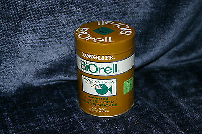 Vintage LongLife BiOrell Flake Fish Food Can TIn west Germany