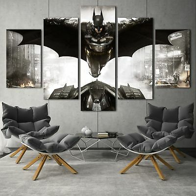 Batman arkham knight 5PCS HD Canvas Print Home Decor Picture Wall Art Painting