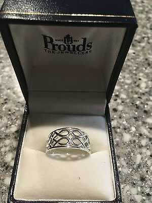 Infinity Stirling Silver Ring From Prouds
