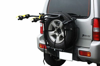 2 Bicycle Bike Rack Rear Spare Tyre Carrier Car By Velobici