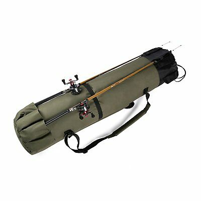 Fishing Rod Reel Organizer Travel Carry Case Carrier Holder Pole Tool StorageBag